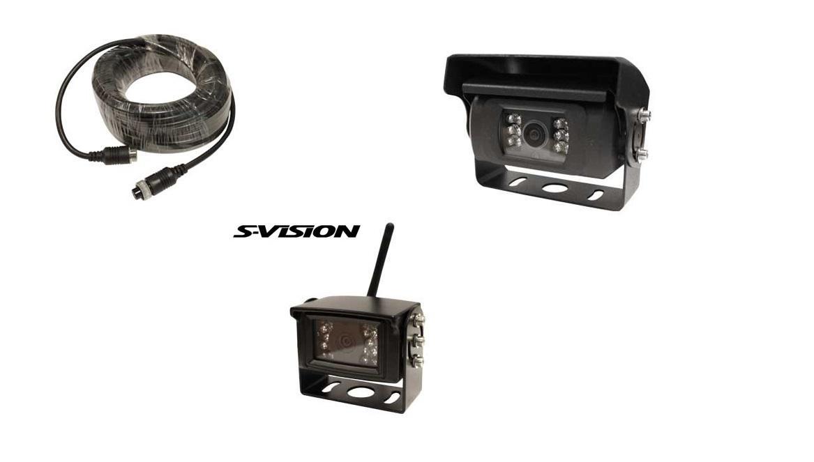 Tarvikkeet S-Vision peruutuskameroihin.